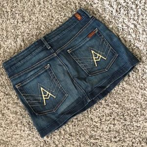 A Pocket Seven for All Mankind Jean Skirt